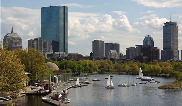 Boston skyline along the Charles River