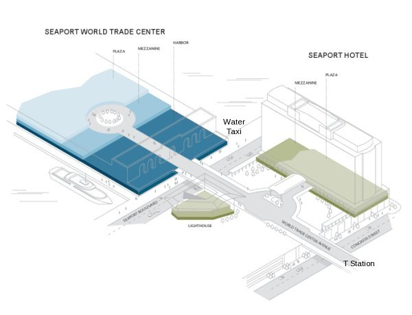 Diagram of Seaport Convention Center and Hotel